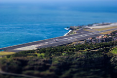 Tonight We're Thinking Of You (Nuno Caldeira) Tags: lensbaby miniature airport with magic aeroplane edge tiny lantern 80 tilt runway madeira funchal composer optic ilhadamadeira tiltshift machico lensbabycomposer canon550d
