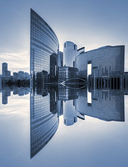 La Dfense (AO-photos) Tags: paris reflection architecture mirror ladfense