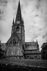 All Saints Church, Cockermouth (Kaiser Soser) Tags: white black church contrast dark grit blackwhite mood all moody fuji grain saints gritty x series fujifilm 100 grainy xseries cockermouth x100 contrsty