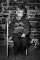 A hungry Latvian boy (Mikael Good) Tags: poverty countryside photo sweden reporter documentary latvia depression greatdepression journalist chasid photojournalist latvija fotojournalist mikaelgood greetingsfromlatvia