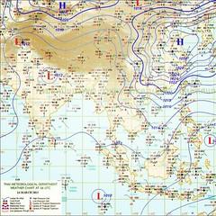 เมื่อเวลา 16:00 น.วันนี้   บริเวณความกดอากาศสูงกำลังค่อนข้างแรงจากประเทศจีนได้แผ่ลงมาปกคลุมถึง ภาคตะวันออกเฉียงเหนือของประเทศไทยและทะเลจีนใต้แล้ว ทำให้บริเวณประเทศไทยตอนบนจะมีฝนฟ้าคะนองกับมีลมกระโชกแรงบางแห่ง โดยเริ่มมีผลกระทบในภาคตะวันออกเฉียงเหนือ และภา