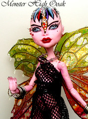 Gothic Fairy Monster High Ooak (OskArt Dolls) Tags: monster high wings doll ooak fairy exclusive fa fs unica mueca repaint foradoption