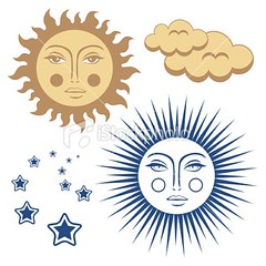 Sun face (larus photography) Tags: morning blue summer cloud sun sunlight nature weather fog bronze gold symbol decoration flame swirl sunbeam cloudscape oldfashioned designelement starshape humanface illustrationandpainting retrorevival illustrationsandvectorart naturesymbolsmetaphors facedsun