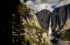 Upper Yosemite Falls Cloudy Winter Morning (Charlotte Hamilton Gibb) Tags: california winter usa yosemitefalls clouds landscape waterfall nationalpark yosemite yosemitenationalpark yosemitevalley upperyosemitefalls yosemitenp charlottegibbphotography charlottegibb