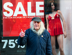 That's short enough! (csh 22) Tags: street people mannequin girl face 35mm sale glasgow character streetphotography streetportrait oldman shopwindow sales shopfront argylestreet annsummers characterstudy peopleinthecity nikond90 glasgowstreetphotography glasgowcharacter