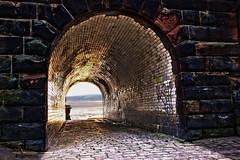 Debatable Tunnel Vision (kfhands) Tags: graffiti tunnel hdr mersey runcorn
