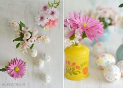 Painted egg 2 (Elmelati) Tags: flowers watercolor diy eastereggs paintedeggs