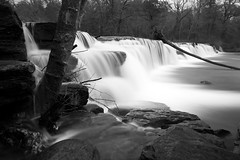 Natural Dam (clay.wells) Tags: white black monochrome creek canon lens landscape eos mono march waterfall spring long exposure natural zoom outdoor mark dam clayton wells falls ii lee photoraphy 5d arkansas usm ef 1740mm waterscape f4l 2013 img0490