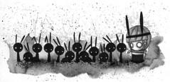 13 (Anita Mejia) Tags: plants cute girl illustration ink garden watercolor mexico sketch drawing traditionalart ears creepy ensenada ilustracion penblackandwhite chocolatita anitamejia