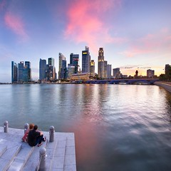 ... I'm in love with you ... (Jazpar) Tags: panorama corner singapore cityscapes cbd mbs susnet iminlove merlionpark onefullerton goldenhours marinabaysands