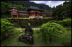 Byodo-in Temple (Konaflyer) Tags: mountains art temple hawaii pond nikon oahu  koolau kaneohe budda hdr byodoin valleyofthetemples kahaluu d7000 markpatton