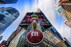 M&M World, Times Square NYC (wowography.com) Tags: nyc longexposure blue red sky usa ny newyork green yellow skyline architecture clouds photoshop reflections easter landscape nikon manhattan broadway nypd timessquare nik mm hdr highdynamicrange lightroom mmworld sigma1020mm hss d90 photomatix reddit wowography 2013 cs5 171337 wowographycom