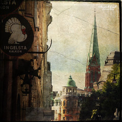 Ingelsta Turkey (Kerstin Frank art) Tags: windows texture buildings roofs distressedjewell lesbrumes magicunicornverybest kerstinfrankart kerstinfranktexture lenabemanna