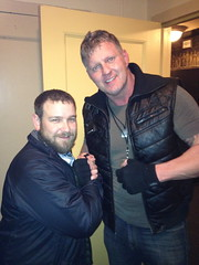 Sean Guthrie and I in Detroit. (brannoneast) Tags: 3doorsdown chrisdaughtry seanguthrie beyondthebarricade brannoneast brannoneastcom