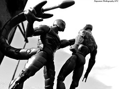 Spidey Defeated by Scorpion (THE AMAZING KIKEMAN) Tags: man black america comics movie scott toy james spider amazing iron action bruce steve banner spiderman andrew cyclops tony lizard scorpion peter xmen captain figure legends carnage barton hawkeye clint rogers curt hulk logan biz thor marvel stark universe widow natasha garfield rhys parker crossbones avengers wolverine connors select 2012 hasbro summers the romanoff howlett ifans phothography