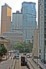 Des Voeux Road, Hong Kong Central (zorro1945) Tags: china hk hongkong asia central highrise asie streetcar trams modernarchitecture banks chine hongkongisland honkers desvoeuxroad hongkongcentral lippobank