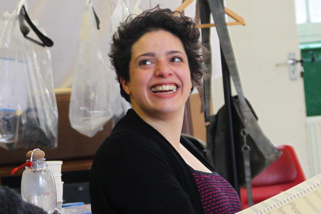 "Rodula Gaitanou in rehearsals for the Jette Parker Young Artists performance of L'isola disabitata in Hobart, Australia.      Photo by Chris Shipman     <a href=""http://www.roh.org.uk"" rel=""nofollow"">www.roh.org.uk</a>"