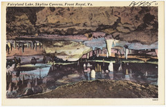 Fairyland Lake, Skyline Caverns, Front Royal, Va. (Boston Public Library) Tags: virginia caves postcards tichnorbrothers