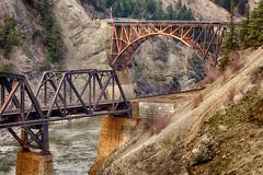 Cross bridge (Erez Avramov) Tags: bridge canada river rust sony perspective 7 columbia british fraser erez nex avramov