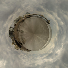 little worthing (Buzz_Lightweight) Tags: ocean sea beach weather clouds photoshop canon coast pier worthing marine 7d coastline worthingpier lightroom 24105l littleplanet