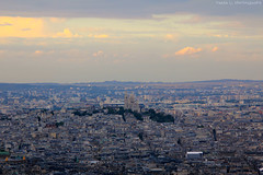 Evening Montmartre (gráce) Tags: paris france skyline architecture buildings evening cityscape hill montmartre basilicaofthesacrécœur