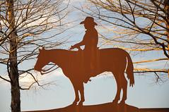 Cowboy (Picardo2009) Tags: sunset horse usa sign caballo atardecer dallas cowboy texas grapevine cartel vaquero