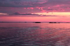 Pink Sunset (Marjaana Pato (away)) Tags: pink sunset sea beach finland oulu nallikari