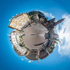 The Maker of Universes - Planet WvdV (bigmike.it) Tags: world panorama mini micro round piazza polar stitched sdtirol bolzano bozen altoadige southtyrol mondo bz walthervondervogelweide polarpanorama waltherplatz