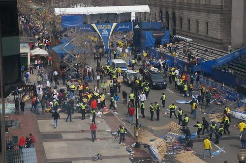 8652900625 c68119bdeb Ground Zero at the 2013 Boston Marathon Explosion  photo