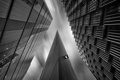 Sliced (vulture labs) Tags: street city uk longexposure travel england sky urban blackand