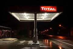 Fired up (alex gogogo) Tags: road street station leuven night europa europe long tank belgium belgie nacht tripod gas shutter total 3000 heverlee straat lange statief sluiter