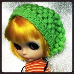 Puff Stitch Slouchy Hat