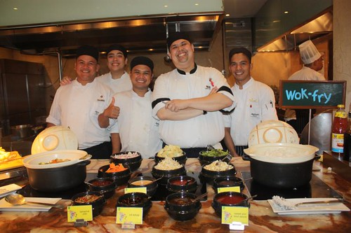 Photo 5 Marriott Manila's kitchen brigade manning the wok-fry station of the buffet