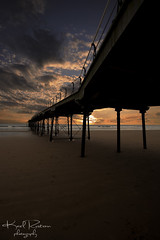 What You Waiting For (Karl Ruston) Tags: ocean camera sunset sky water clouds canon pier sand yorkshire saltburnbythesea