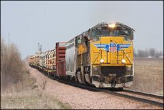 UP 8394 (Justin Hardecopf) Tags: railroad up train iowa unionpacific elkhart 8394 sd70ace mcpfw