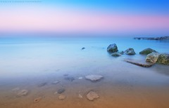 Calmness (khalid almasoud) Tags: morning pink blue light beach ex colors dc rocks all photographer place pentax bottom  sigma calm best rights absolutely layers meditation kuwait af khalid reserved foreground calmness f35 todays     greatphotographers hsm  photographyrocks k01 10mm20mm almasoud    thebestofday gnneniyisi perrrfect   anajafh