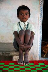 Little brother (Bart Huizinga) Tags: india kids children farm disabledchildren spasticsociety