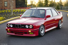 John's E30 M3 on Bridgestone DTMs (Travis Cuykendall) Tags: sunset white french slam nikon view bokeh low wheels racing alpine valley bmw 28 flush m3 dtm hid lowered turbine e30 ddm slammed stance 1755 e36 d300 d7100 hellaflush stanced stanceworks