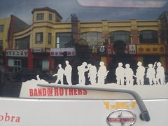 Band of Rothers. (brendan gibson) Tags: china apple car sticker funny asia inner mongolia bumpersticker prc chinglish 4s iphone innermongolia hohhot rothers appleiphone4s bandofrothers