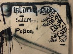 Islam=Salam=Peace (aestheticsofcrisis) Tags: street art urban intervention streetart urbanart guerillaart graffiti graffity berlin germany europe kreuzberg xberg stencil schablone pochoir