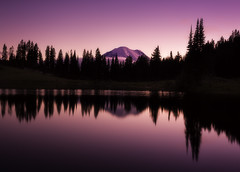 Tipsoo Lake (3dRabbit) Tags: tipsoo lake wa mount rainier seattle sunset nature landscape reflection color red sungjinahn canon 1635mm peace calm