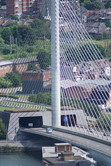 Le Pont de Lige (LiveFromLiege) Tags: lige liege luik lttich liegi lieja wallonie belgique belgium pontdelige pont bridge contemporary architecture contemporaine meuse maas mosa renory angleur e42 autoroute highway