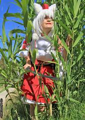 RinCosplay_011 (Ragnarok31) Tags: rin cosplay loup fort roseaux arbre japonais sabre