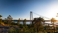 High Coast bridge (JH') Tags: nikon nikond5300 nature d5300 trees tree rocks water highcoast heaven summer sky sigma sun sweden 1020 2016 landscape bridge