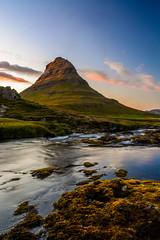 Kirkjufell (colin grubbs) Tags: kirkjufell iceland mountain snfellsnes travel landscape waterfall river sunset europe