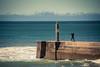 Morning Gym (Gilderic Photography) Tags: cascais portugal ocean sea man gym surf morning pier water canon 500d gilderic vacation waves zen