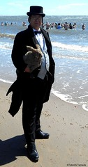 Dr. Takeshi Yamada and Seara (Coney Island Sea Rabbit) visited the Coney Island Polar Bear Club at the Coney Island Beach in Brooklyn, New York on April 3 (Sun), 2016. mermaid. merman. 20160403Sun DSCN4902=3030pC1 (searabbits23) Tags: searabbit seara  taxidermy roguetaxidermy mart strange cryptozoology uma ufo esp curiosities oddities globalwarming climategate dragon mermaid unicorn art artist alchemy entertainer performer famous sexy playboy bikini fashion vogue goth gothic vampire steampunk barrackobama billclinton billgates sideshow freakshow star king pop god angel celebrity genius amc immortalized tv immortalizer japanese asian mardigras tophat google yahoo bing aol cnn coneyisland brooklyn newyork leonardodavinci damienhirst jeffkoons takashimurakami vangogh pablopicasso salvadordali waltdisney donaldtrump hillaryclinton polarbearclub