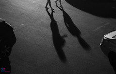 Never walk alone in the darkness (Tony Kanev) Tags: rood shadow darkness parking blackandwhite black white schaduw blackwhite