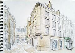 Poitiers, rue du Palais (Croctoo) Tags: croctoo croctoofr crayon poitou poitiers aquarelle watercolor croquis