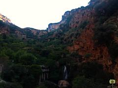 Cascade d'El-Ourit domine par le pont ferroviaire Eiffel (Ath Salem) Tags: algrie tlemcen mansourah histoire historique mosque masjid vestige hammam boughrara tourisme dcouverte promenade cascade elourit lalla setti